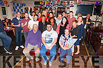 Jonathan Coffey seated front centre from Clahanlinehan, Cahersiveen celebrated his 21st birthday with family and friends in the Fertha Bar Cahersiveen on Saturday night.