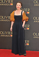 Lesley Manville at the Olivier Awards 2018, Royal Albert Hall, Kensington Gore, London, England, UK, on Sunday 08 April 2018.<br /> CAP/CAN<br /> &copy;CAN/Capital Pictures<br /> CAP/CAN<br /> &copy;CAN/Capital Pictures