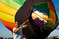 READINGTON, NJ - JULY 27: Participants get ready their balloons during the QuickCheck New Jersey Festival of Ballooning on July 27, 2019 in Readington, NJ. More than 100 hot air balloons are taking part in the show where at least 165.000 are expected to attend.  (Photo by Eduardo MunozAlvarezVIEWpress)