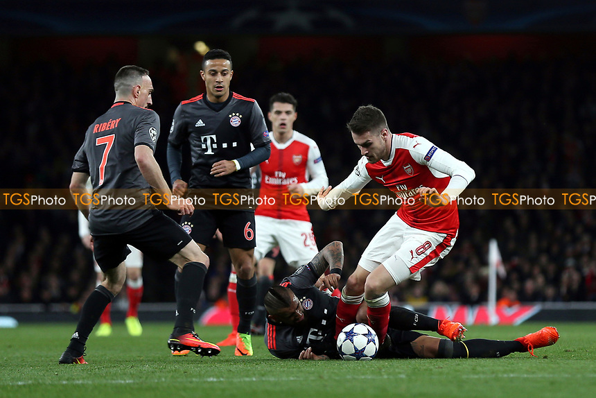 Aaron Ramsey of Arsenal in action during Arsenal vs FC Bayern Munich, UEFA Champions League Football at the Emirates Stadium on 7th March 2017