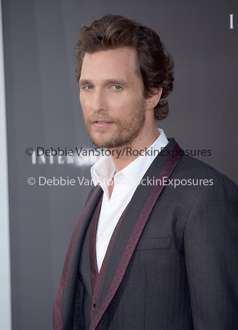 Matthew McConaughey attends The Los Angeles premiere of INTERSTELLAR, from Paramount Pictures and Warner Brothers Pictures held at The TCL Chinese Theatre in Hollywood, California on October 26,2014                                                                               © 2014 Hollywood Press Agency