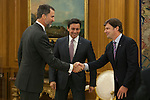 King Felipe VI of Spain during a Royal Audience with Ford representatives in Madrid, Spain. February 04, 2015. (ALTERPHOTOS/Victor Blanco)