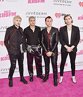 CARSON, CA - JUNE 01: (L-R) Michael Clifford, Calum Hood, Ashton Irwin and Luke Hemmings of the music group 5 Seconds of Summer attend 2019 iHeartRadio Wango Tango at The Dignity Health Sports Park on June 01, 2019 in Carson, California.<br /> CAP/ROT/TM<br /> ©TM/ROT/Capital Pictures