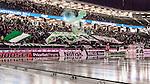 Solna 2014-03-16 Bandy SM-final herrar Sandvikens AIK - V&auml;ster&aring;s SK :  <br /> V&auml;ster&aring;s supportrar med en banderoll innan mathcne och budskap till avlidne V&auml;ster&aring;s spelaren Victor Engstr&ouml;m<br /> (Foto: Kenta J&ouml;nsson) Nyckelord:  SM SM-final final herr herrar VSK V&auml;ster&aring;s SAIK Sandviken supporter fans publik supporters