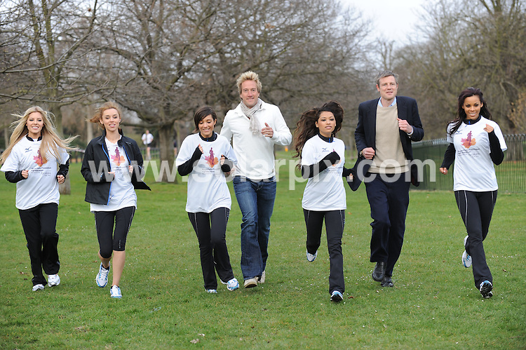 **ALL ROUND PICTURES FROM SOLARPIX.COM**.**NO UK NEWSPAPER PUBLICATION**.**UK MAGAZINE & SUPPLEMENT PUBLICATION ONLY** AND NO PUBLICATION IN AUSTRALIA, FRANCE, GERMANY, ITALY AND SCANDINAVIA** .Girl band the Saturdays launched the Royal Parks half marathon in London this morning. The race will take place on 11/10/09, starts and ends in Hyde Park and runners will race through the four Royal Parks, taking in superb views of Buckingham Palace, the Houses of Parliament, the London Eye, Marble Arch and the Royal Albert Hall. Hyde Park, London, UK. 25 March 2009..This pic: the Saturdays..JOB REF: 8716 SFE       DATE: 25_03_2009.**MUST CREDIT SOLARPIX.COM OR DOUBLE FEE WILL BE CHARGED**.**ONLINE USAGE FEE GBP 50.00 PER PICTURE - NOTIFICATION OF USAGE TO PHOTO @ SOLARPIX.COM**.**CALL SOLARPIX : +34 952 811 768 or LOW RATE FROM UK 0844 617 7637**