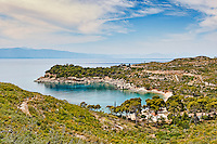 Agia Paraskevi on the west side of Spetses island, Greece