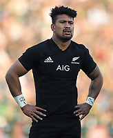 PRETORIA, SOUTH AFRICA - OCTOBER 06: Ardie Savea of the New Zealand All Blacks during the Rugby Championship match between South Africa Springboks and New Zealand All Blacks at Loftus Versfeld Stadium. on October 6, 2018 in Pretoria, South Africa. Photo: Steve Haag / stevehaagsports.com