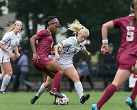 Newton, Massachusetts - September 23, 2018: NCAA Division I. Boston College (white) defeated Florida State University (garnet), 2-1, at Newton Campus Soccer Field.