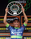 Esteban Chaves (COL) Orica-Bike Exchange wins the 110th edition of Il Lombardia NamedSport 2016 cycle race, running 241 km from Como to Bergamo, Italy. 1st October 2016.<br /> Picture: ANSA/Matteo Bazzi | Newsfile<br /> <br /> <br /> All photos usage must carry mandatory copyright credit (© Newsfile | Matteo Bazzi)