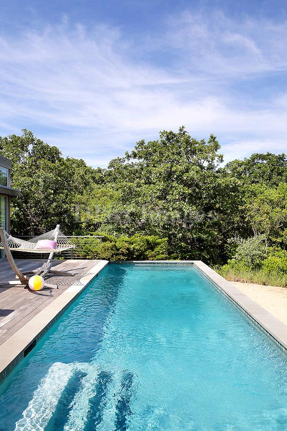 luxury pool area in the garden
