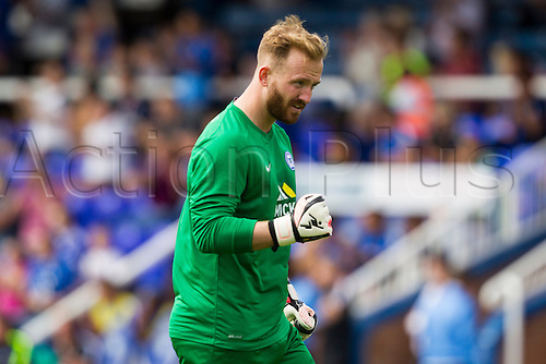 18.07.2015.  Peterborough, Engand. Pre Season Friendly Peterborough United versus Tottenham Hotspur. Ben Alnwick (Peterborough United) celebrates their opening goal.