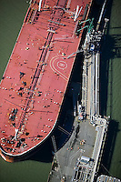 aerial photograph oil tanker Chevron Long Warf, Richmond, California