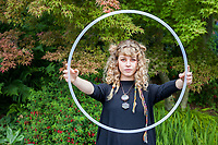 Beautiful Blonde Girl, NW Folklife Festival, Seattle, WA, USA.