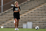 28 August 2009: Duke's Elisabeth Redmond. The Duke University Blue Devils lost 1-0 to the University of North Carolina Greensboro Spartans at Fetzer Field in Chapel Hill, North Carolina in an NCAA Division I Women's college soccer game.