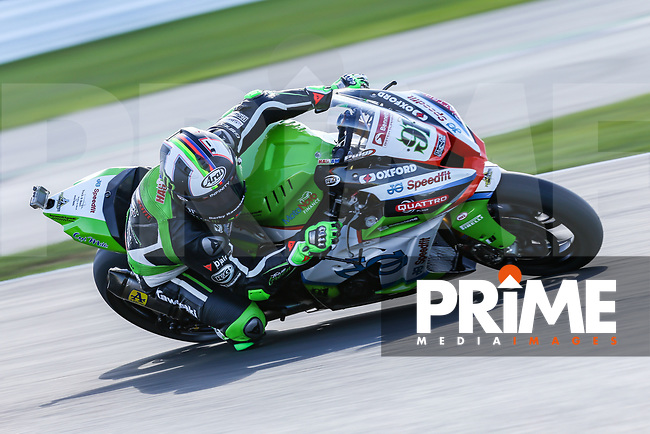 Leon HASLAM (91) of the BSB JG Speedfit Kawasaki race team during Free Practice 1 at Round 9 of the 2018 British Superbike Championship at Silverstone Circuit, Towcester, England on Friday 7 September 2018. Photo by David Horn.