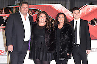 "Jonathan, Amy, Nikki and Josh Tapper<br /> at the ""xXx: Return of Xander Cage"" premiere at O2 Cineworld, Greenwich , London.<br /> <br /> <br /> ©Ash Knotek  D3216  10/01/2017"