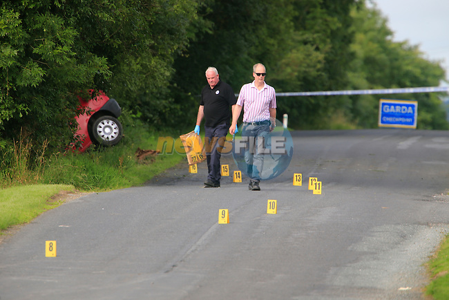 Garda&shy; are investigating a single vehicle fatal road traffic collision which occurred close to Brannigan's Cross on the Collon to Tinure Road, Collon, County Louth this morning, Tuesday 11th August 2015 at approximately 1am.<br />  <br /> A man, 32 years, sole occupant suffered serious injuries when the vehicle he was driving left the road and struck a ditch. He was taken to Our Lady of Lourdes Hospital, Drogheda where he was pronounced dead.<br />  <br /> The scene has been preserved and Garda Forensic Collision Investigators will carry out an investigation of the area. Diversions are in place.<br />  <br /> Garda&shy; are appealing for witnessess or anyone who was travelling the Collon-Tinure Road between 12.30am and 1am on 11th August 2015 are asked to contact them at Ardee on 041 6871130, The Garda Confidential Line, 1800 666111 or any Garda Station.<br /> <br /> Picture: &copy;Newsfile \ Fran Caffrey