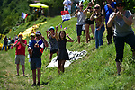 Young fans wait for the riders during Stage 4 of the 104th edition of the Tour de France 2017, running 207.5km from Mondorf-les-Bains, Luxembourg to Vittel, France. 4th July 2017.<br /> Picture: ASO/Bruno Bade | Cyclefile<br /> <br /> <br /> All photos usage must carry mandatory copyright credit (&copy; Cyclefile | ASO/Bruno Bade)
