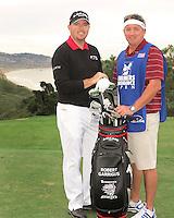 23 JAN 13  Robert Garrigus with caddy Brett Henley during The Farmers Insurance Open at Torrey Pines Golf Course in La Jolla, California. (photo:  kenneth e.dennis / kendennisphoto.com)