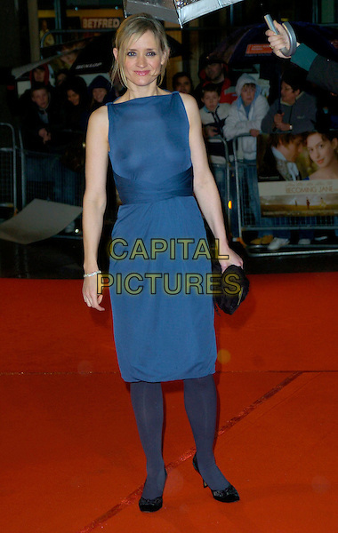 """ANNE-MARIE DUFF.""""Becoming Jane"""" World Premiere, Odeon West End, .London, England, March 4th 2007..full length anne marie blue dress tights see through thru sheer boobs breasts nipples.CAP/CAN.©Can Nguyen/Capital Pictures"""