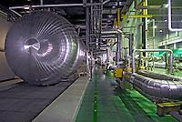 Turbinas a vapor. Reator atômico. Usina Nuclear Angra 2. Angra dos Reis. Rio de Janeiro. 2007. Foto de Luciana Whitaker.