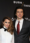 """Keri Russell and Adam Driver attends the Broadway Opening Celebration for Landford Wilson's """"Burn This""""  at Hudson Theatre on April 15, 2019 in New York City."""