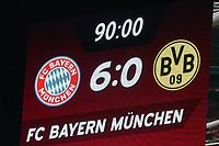 Anzeigetafel, Screen, Screenboard, digital, LED,<br /> FC BAYERN MUENCHEN - BORUSSIA DORTMUND <br /> Football 1. Bundesliga , Muenchen,31.03.2018, 28. match day,  2017/2018, , BVB<br />  *** Local Caption *** © pixathlon<br /> Contact: +49-40-22 63 02 60 , info@pixathlon.de