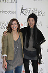 All My Children's Rebecca Budig poses with designer Vera Wang who was honored at the 2012 Skating with the Stars event - a benefit gala for Figure Skating in Harlem celebrating 15 years on April 2, 2012 at Central Park's Wollman Rink, New York City, New York.  (Photo by Sue Coflin/Max Photos)