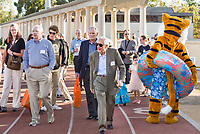(Photo by Don Milici, Freelance Photographer)<br /> <br /> As part of Occidental College's Homecoming & Family Weekend, photo of the tour of the new De Mandel Aquatics Center, Friday, Oct. 18, 2019 at Kemp Stadium.<br /> <br /> (Photo by Don Milici, Freelance Photographer)