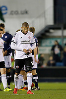 Leon Clarke of Sheffield United is unhappy at the final whistle during the Sky Bet Championship match between Millwall and Sheff United at The Den, London, England on 2 December 2017. Photo by Carlton Myrie / PRiME Media Images.