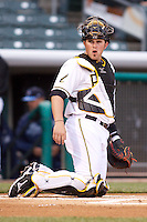 April 28, 2009:  Bobby Wilson of the Salt Lake Bees, Pacific Cost League Triple A affiliate of the Los Angeles (Anaheim) Angles, during a game at the Spring Mobile Ballpark in Salt Lake City, UT.  Photo by:  Matthew Sauk/Four Seam Images