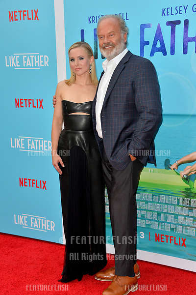 "Kristen Bell & Kelsey Grammer at the Los Angeles premiere of ""Like Father"" at the Arclight Theatre, Los Angeles, USA 31 July 2018<br /> Picture: Paul Smith/Featureflash/SilverHub 0208 004 5359 sales@silverhubmedia.com"