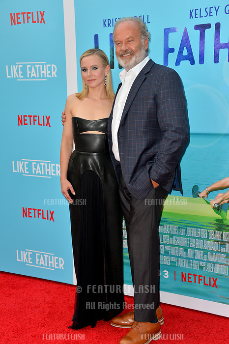 Kristen Bell &amp; Kelsey Grammer at the Los Angeles premiere of &quot;Like Father&quot; at the Arclight Theatre, Los Angeles, USA 31 July 2018<br /> Picture: Paul Smith/Featureflash/SilverHub 0208 004 5359 sales@silverhubmedia.com