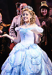 Alli Mauzey  during the 10th Anniversary on Broadway Curtain Call for 'Wicked'  at the Gershwin Theatre on October 30, 2013  in New York City.