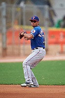 Texas Rangers Isiah Kiner-Falefa (75) during an instructional league game against the Los Angeles Angels / Chicago Cubs co-op team on October 5, 2015 at the Surprise Stadium Training Complex in Surprise, Arizona.  (Mike Janes/Four Seam Images)