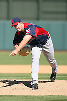 Drew Pomeranz of the Cleveland Indians pitches against the Oakland Athletics in a spring training game at Phoenix Municipal Stadium on March 2, 2011  in Phoenix, Arizona. .Photo by:  Bill Mitchell/Four Seam Images.