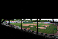 View of Rickwood Field, the oldest surviving professional baseball park in the United States, first opening on August 18, 1910, as home for the Birmingham Barons.  Image taken on April 16, 2013 in Birmingham, Alabama.  (Mike Janes/Four Seam Images)