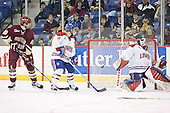 Brian Boyle, Jason Tejchma, Vinny Monaco - The University of Massachusetts-Lowell River Hawks defeated the Boston College Eagles 6-3 on Saturday, February 25, 2006, at the Paul E. Tsongas Arena in Lowell, MA.