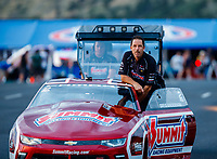 Jul 21, 2017; Morrison, CO, USA; NHRA pro stock driver Greg Anderson during qualifying for the Mile High Nationals at Bandimere Speedway. Mandatory Credit: Mark J. Rebilas-USA TODAY Sports