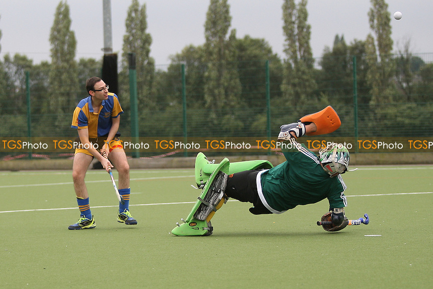 Will Murphy scores the third goal for Upminster Havering HC 2nd XI vs Upminster HC 3rd XI, East Region League Field Hockey at Campion School on 17th September 2016