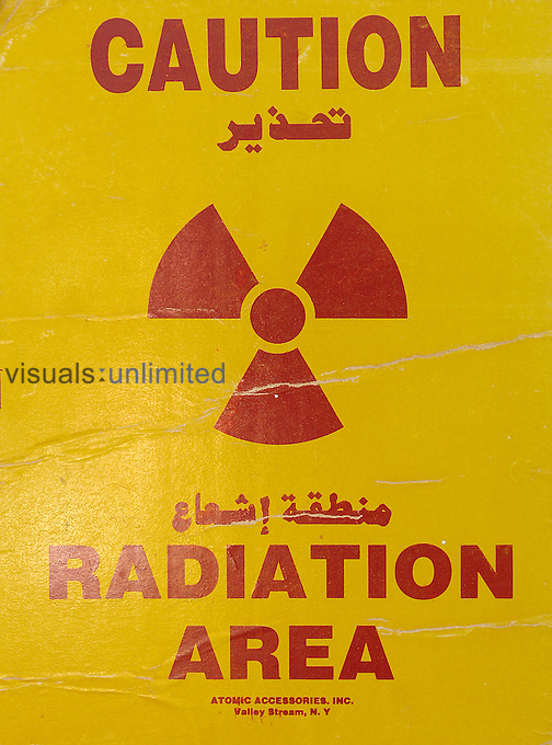 Caution; Radiation Area warning sign. Royalty Free