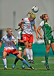 26 August 2012: Fairfield University Stag midfielder Nikki Stanton in action against the University of Vermont Catamounts at Virtue Field in Burlington, Vermont. The Stags defeated the Lady Cats 1-0. Mandatory Credit: Ed Wolfstein Photo