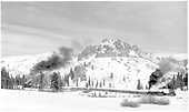 Looking toward Windy Point - long D&amp;RGW freight with two engines headed up Cumbres, passing Coxo.<br /> D&amp;RGW  Coxo, CO  Taken by Richardson, Robert W. - 1956