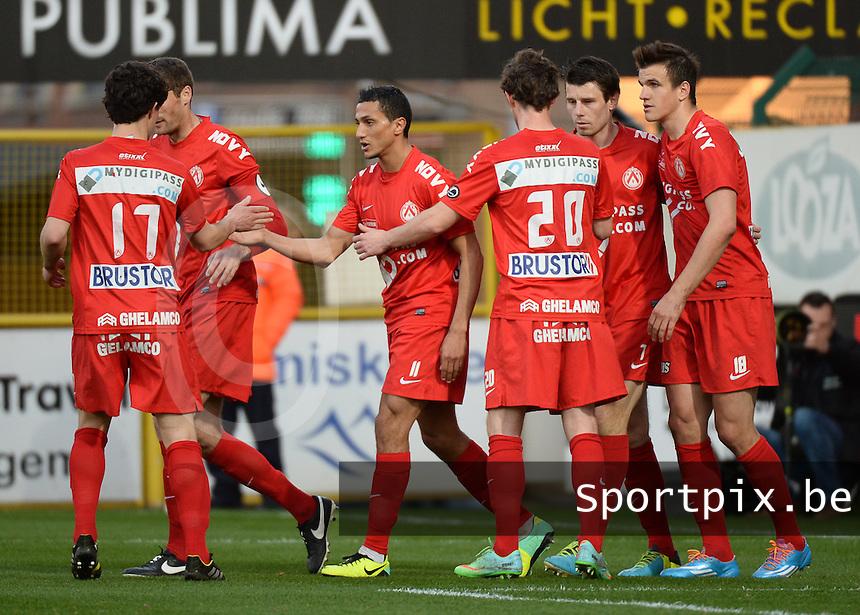KV Kortrijk - Racing Genk : vreugde bij Kortrijk na de 2-0<br /> foto VDB / BART VANDENBROUCKE