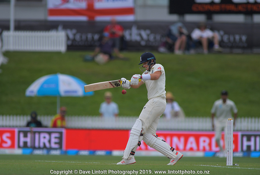England captain Joe Root bats during day four of the international cricket 2nd test match between NZ Black Caps and England at Seddon Park in Hamilton, New Zealand on Friday, 22 November 2019. Photo: Dave Lintott / lintottphoto.co.nz