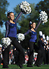 Lindsey Janes, Northport senior, left, performs alongside her kickline teammates during halftime of the school's varsity football game against Patchogue-Medford at Half Hollow Hills East High School in Dix Hills on Sunday, Oct. 1, 2017.