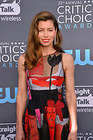 Jessica Biel at the 23rd Annual Critics' Choice Awards at Barker Hangar, Santa Monica, USA 11 Jan. 2018<br /> Picture: Paul Smith/Featureflash/SilverHub 0208 004 5359 sales@silverhubmedia.com