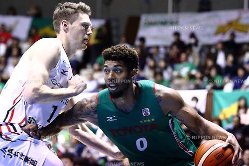 (L to R) <br />  Clint Chapmen (Jets), <br />  Richard Solomon (ALVARK), <br /> APRIL 17, 2016 - Basketball : <br /> National Basketball League &quot;NBL&quot; 2015-2016 <br /> between TOYOTA ALVARK TOKYO 87-78  Chiba Jets <br /> at 2nd Yoyogi Gymnasium, Tokyo, Japan. <br /> (Photo by AFLO SPORT)