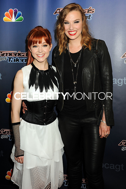 NEW YORK CITY, NY, USA - AUGUST 06: Lindsey Stirling, Lzzy Hale arrive at the 'America's Got Talent' Season 9 Post Show Red Carpet Event held at Radio City Music Hall on August 6, 2014 in New York City, New York, United States. (Photo by Celebrity Monitor)