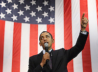 Barack Obama speaks at a San Antonio rally at the Verizon Wireless Ampitheater on February 29th.  (Marvin Pfeiffer/PressPhotoIntl.com)